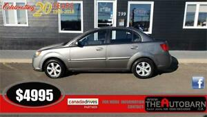 2011 KIA RIO EX SEDAN - 5 SPEED MANUAL, CRUISE, HEATED SEATS