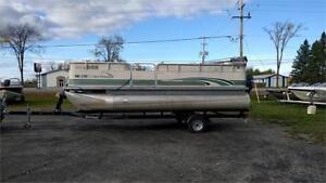 Year 2000 - 20' Pontoon Boat, 100hp 4 Stroke Yamaha and trailer