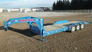 2017 26' Gooseneck Cushion Tilt Equipment Trailer (21,000 GVW)