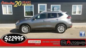 2018 NISSAN ROGUE SV AWD - cruise, bluetooth, heated seats. 53K
