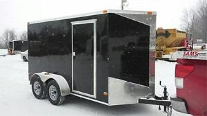 BEST PRICE** 6x12 tandem + V-Nose ENCLOSED CARGO TRAILER