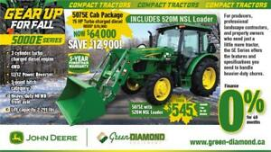 5075E JOHN DEERE COMPACT TRACTOR, LOADER, CAB PACKAGE
