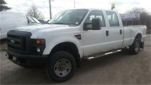 2008 Ford F250 4x4, Power Lift Gate! Crew Cab, 8 Foot Box, Hitch