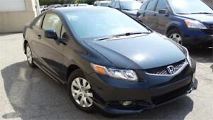 2012 Honda Civic Cpe LX with Safety certificate