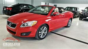 2011 Volvo C70 T5 Convertible / Rouge Flamenco/Jamais Accidenté.
