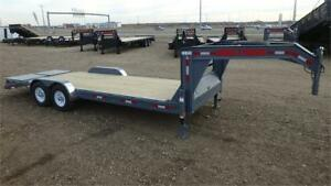 2018 22' Gooseneck Equipment Trailer (14000 GVW) Double A