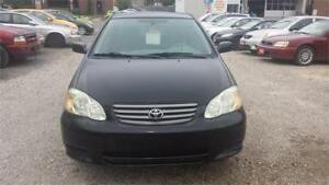 2003 TOYOTA COROLLA MANUAL 5 SPEAD WITH SAFETY & WARRANTY