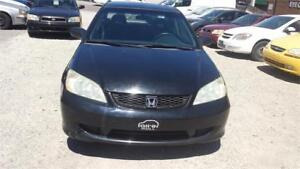 2005 HONDA CIVIC COUPE MANUAL 5 SPEED WITH SAFETY & WARRANTY
