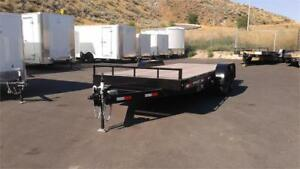 7' x 18' Equipment Trailer, fixed or sliding ramps.