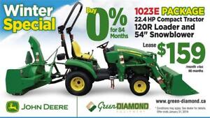 1023E TRACTOR LOADER SNOW BLOWER WINTER PACKAGE
