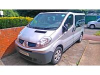 2010 Renault Trafic 2.0 Diesel 9 seater minibus, has PHV taxi & Uber licence,