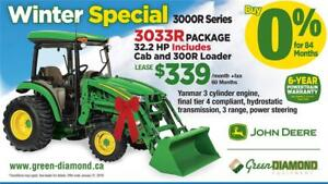 3033R TRACTOR, LOADER, CAB WINTER PACKAGE