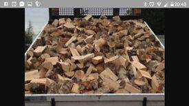 100% hardwood seasoned logs