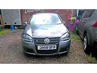 2008 VOLKSWAGEN GOLF GT TDI 170 edition, AUTOMATIC DSG, SHOWING 80K MILES, damaged