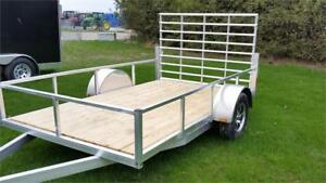6X10' Aluminum utility with aluminum wheels