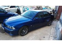2002 BMW 525d E39 5 Series M Sport Saloon BREAKING FOR PARTS SPARES Avus Blue