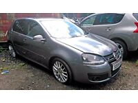 2008 VOLKSWAGEN GOLF GT TDI 170 edition, AUTOMATIC DSG, SHOWING 80K MILES , damaged