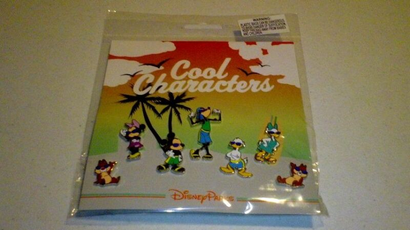 Disney pin Cool Characters Set 7 Pins Mickey Minnie Donald Goofy Chip Dale Daisy