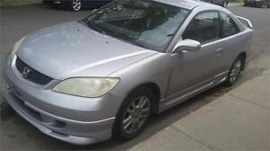 2005 HONDA CIVIC COUPE SPORT MODELE REVERB AUTOMATIQUE