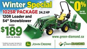 1025R TRACTOR LOADER SNOW BLOWER WINTER PACKAGE