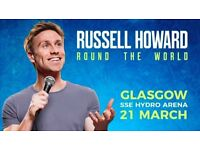 2 x Russell Howard Round the World Tour Tickets - SSE Hydro Glasgow
