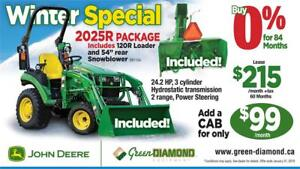 2025R TRACTOR, LOADER, SNOW BLOWER WINTER PACKAGE