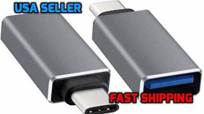 USB-C Type C 3.1 Male to USB 3.0 Type A Female Adapter Sync Data Hub OTG Gray