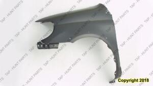 Fender Front Passenger Side With Wheel Moulding Hole Toyota Echo 2000-2002