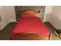 Double bed with Ikea matress