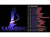 Kasabian standing tickets, O2 Brixton Academy London, Wednesday 3rd November 2021
