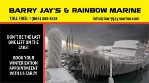 BOOK NOW FOR YOUR BOAT WINTERIZATION!
