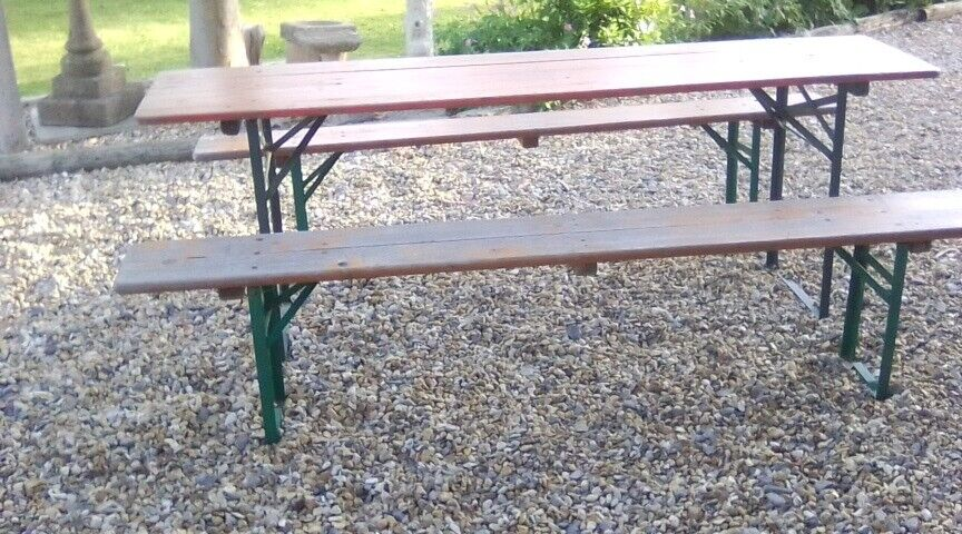 Awesome German Beer Table Bench Seats In Emsworth Hampshire Gumtree Evergreenethics Interior Chair Design Evergreenethicsorg