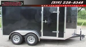 New Cargo Trailer 7'x12' V-Nose Black, Financing Available