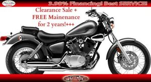 2017 YAMAHA V-STAR 250 CRUISE MOTORCYCLE!  CLEARANCE SALE + FREE