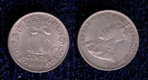 CEYLON-10-CENT-1920-GEORGE-V-KING-AND-IMPERATOR-OF-INDIA-SPL-mrm