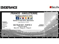 France vs England Three tickets Six Nations Cup 10.03.2018 Stade France Paris