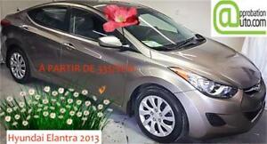 2013 Hyundai Elantra GL, À PARTIR DE 33$/SEM.100% APPROUVÉ !