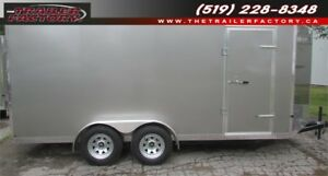 New Cargo Trailer 7'x16' V-Nose Pewter, Financing Available