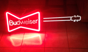 Neon Budweiser Guitar Sign