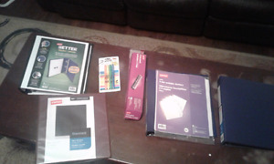 Brand new binders&highlighters&holepunch for cheap!