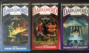 Lot of 3 DARKSWORD TRILOGY books by Weis & Hickman (Like New)