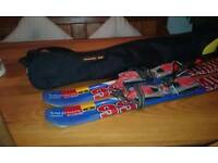 Salomon ski blades with bag