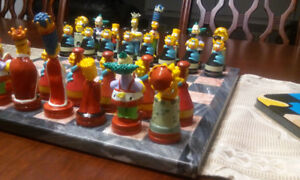 VINTAGE THE SIMPSONS CHESS SET