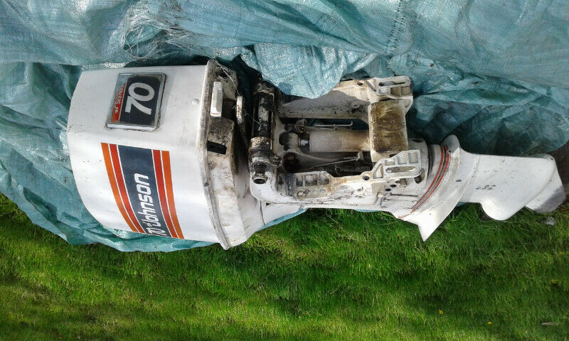 1981 Johnson Outboard 70 Hp Motor For Parts Blown Cylinder