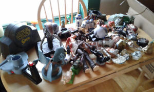 2 large boxes of STAR WARS toys
