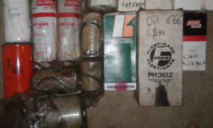 Assorted Air Fuel and Oil Filters - Baldwin Wix Fram etc
