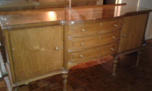 """antique sideboard & custom 1/4"""" thick glass top – BEST OFFER"""
