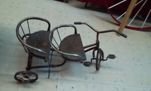 Tricycle double antique