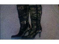 Ladies Designer NEW ROCK Boots Size 7 Unused