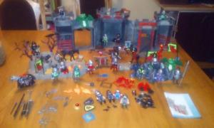 Jouet jeu playmobile  château  Dragons chevaliers Bases Et plus